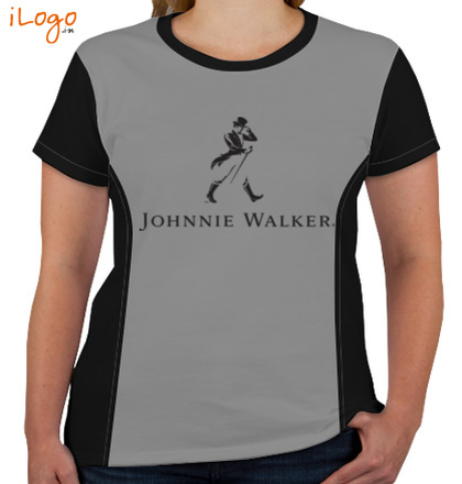 Corporate JOHNNIE-WALKER-Women%s-Round-Neck-With-Side-Panel T-Shirt