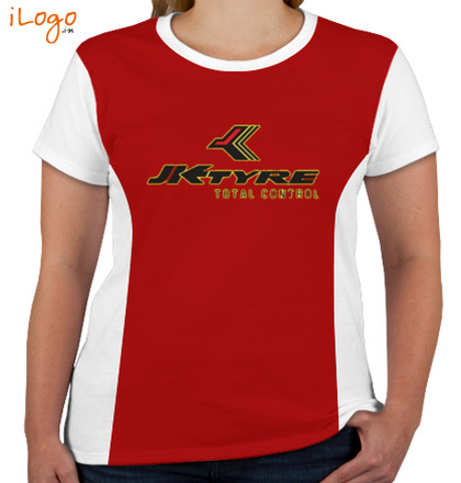 Corporate JK-TYRE-Women%s-Round-Neck-With-Side-Panel T-Shirt