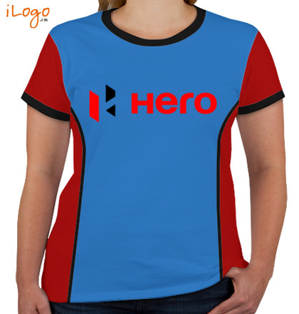 Corporate HERO-MOTO-CUP-Women%s-Round-Neck-With-Side-Panel T-Shirt