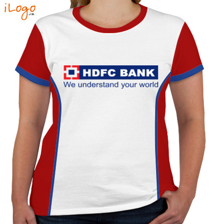 Corporate HDFC-BANK-Women%s-Round-Neck-With-Side-Panel T-Shirt