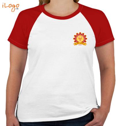 Class Reunion T-Shirts BHARAT-UNIVERCITY-Women%s-Round-Neck-Raglan-Half-Sleeves T-Shirt