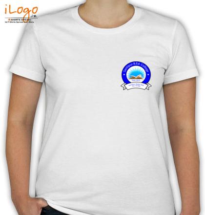 Class Reunion T-Shirts Santipur-B.Ed-College-Women%s-R/N-T-Shirt T-Shirt