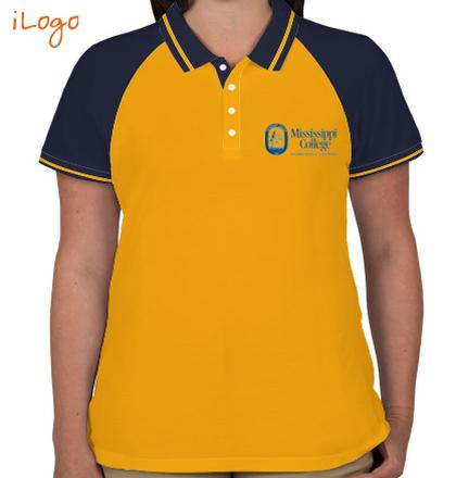 Class Reunion T-Shirts mississippi-college-Women%s-Raglan-Single-Tip-Polo-Shirt T-Shirt