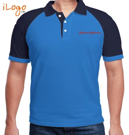 Corporate Johnson-and-Johnson-Raglan-Polo T-Shirt