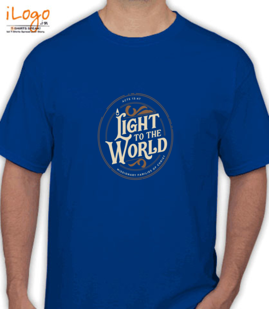 royal blue light to the world:front