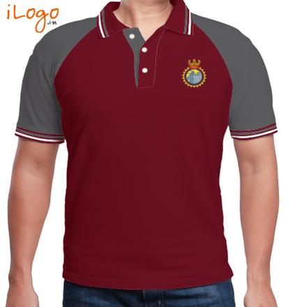 Indian Army Collared T-Shirts INS-Nirupak-MensRaglan-Double-Tip-Polo-Shirt T-Shirt