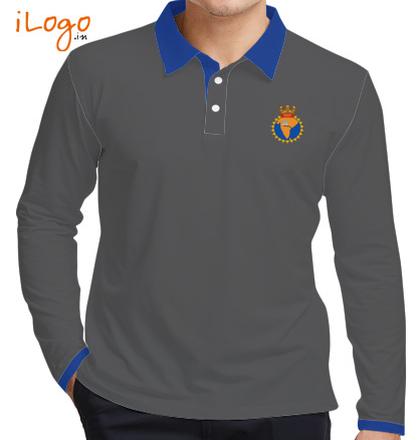 Indian Army Collared T-Shirts INS-Godavari-Mens-Fullsleves-Polo T-Shirt