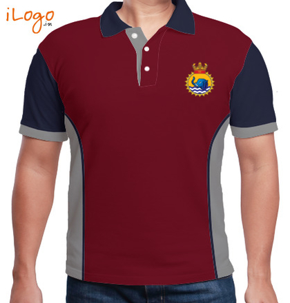 Indian Army Collared T-Shirts INS-Gaj-Men%s-PoloSidePanel T-Shirt