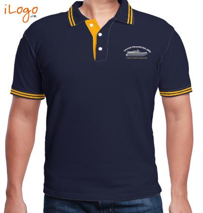 Indian Navy Collared T-Shirts Gagar-Prahari-Bal-MBI-Double-tipping-polo T-Shirt