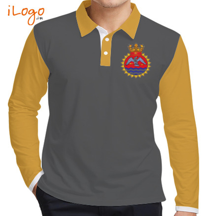 INS-Tir-emblem-mens-Full-Sleeves-Polo T-Shirt