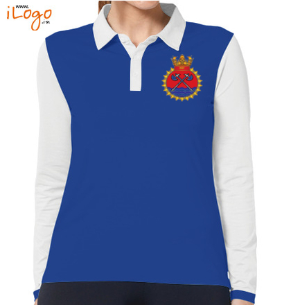 INS-Tabar-emblem-Women%s-Polo-Full-Sleeves-With-Buttons T-Shirt