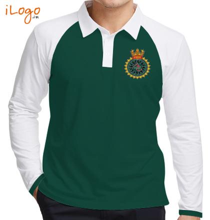 INS-Sandhayak-%J-%-emblem-Raglan-Full-Sleeves-Polo-Shirt T-Shirt