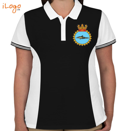 INS-Shalki-emblem-Women%s-Polo-Double-Tip-With-Side-Panel T-Shirt