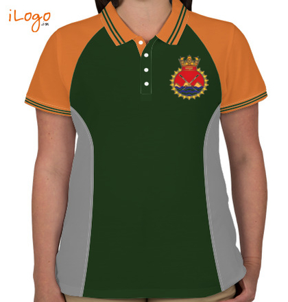 INS-Satpura-%F%-crest-Women%s-Polo-Raglan-Double-Tip-With-Side-Panel T-Shirt