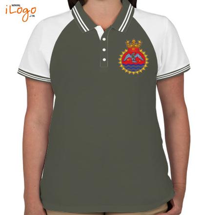 INS-Tir-emblem-Women%s-Raglan-Double-Tip-Polo-Shirt T-Shirt