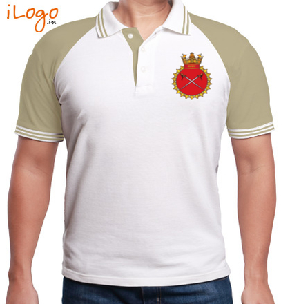 INS-Talwar-emblem-MENS-Raglan-Polo-Double-Tip T-Shirt