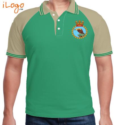 INS-Taragiri-emblem-Raglan-Polo-Double-Tip T-Shirt