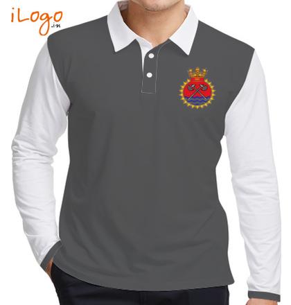 INS-Tabar-emblem-mens-Full-Sleeves-Polo T-Shirt