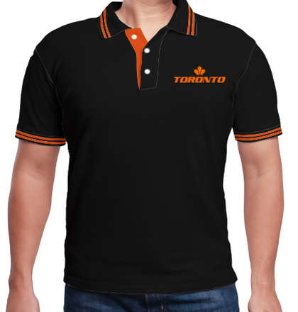 LOGO Men%s-Polo-with-Double-Tipping-Toronto T-Shirt