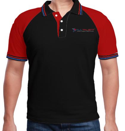 LOGO Alltalent-Men%s-Raglan-Polo-T-Shirt T-Shirt