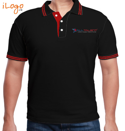 LOGO Alltalent-Men%s-Polo-with-Double-Tipping T-Shirt