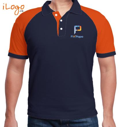 LOGO Fixpapa-Men%s-Raglan-Polo T-Shirt