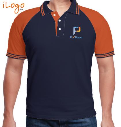 LOGO Fixpapa-Men%s-Raglan-Polo-with-Double-Tipping T-Shirt