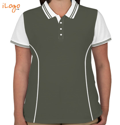 Indian Navy Collared T-Shirts INS-Shivaji-Crest-Women%s-Polo-Double-Tip-With-Side-Panel T-Shirt