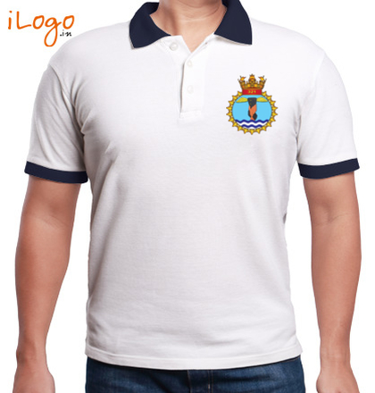 Indian Navy Collared T-Shirts FLY-NAVY-FLY-SAFE--Two-button-Polo T-Shirt
