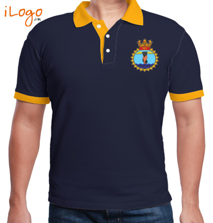 Indian Air Force Collared T-Shirts Shirts FLY-NAVY-FLY-SAFE--Two-button-Polo T-Shirt