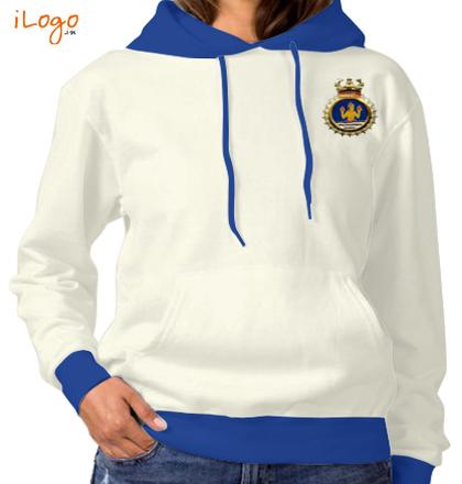 Indian Navy Hoodies Crest-of-INHS-Dhanvantari-Women%s-Hoodie-Full-Sleeves T-Shirt