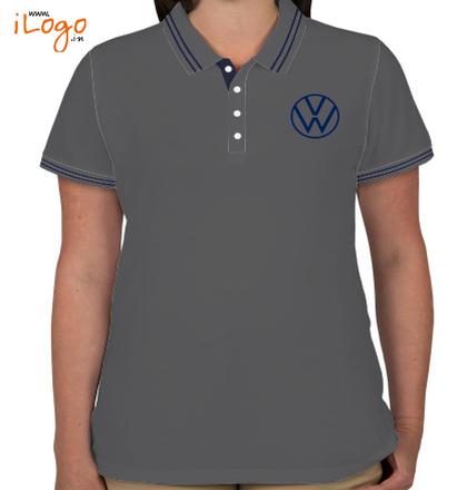 Volkswagen-Women%s-Double-Tip-Polo-Shirt T-Shirt