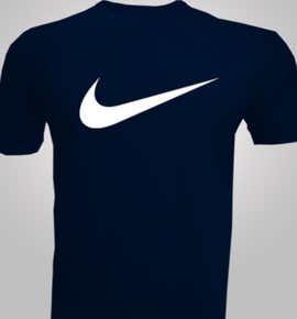 Nike navy blue personalized men 39 s t shirt india for Navy blue and white nike shirt