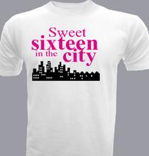 Birthday sweet-sixteen-in-the-city T-Shirt