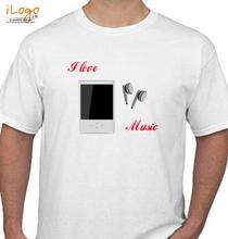 music-earphones T-Shirt
