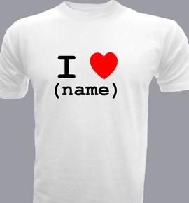 ilovename  - T-Shirt