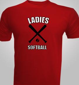 ladies-softball- - T-Shirt