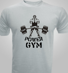 Power gym men 39 s t shirt at best price editable design india for Gym t shirts india