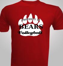 Volleyball Bears-Volleyball- T-Shirt