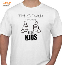 Father's Day dad_loves_kids T-Shirt