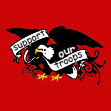 Eagle-Banner-Support- T-Shirt