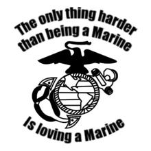 loving-a-marine- T-Shirt