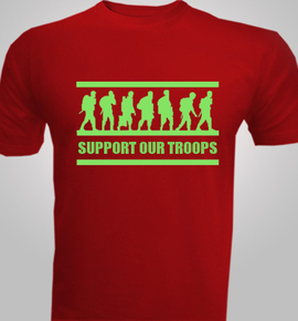 support-and-troops- - T-Shirt