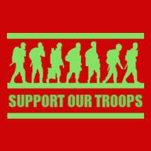 Military support-and-troops- T-Shirt