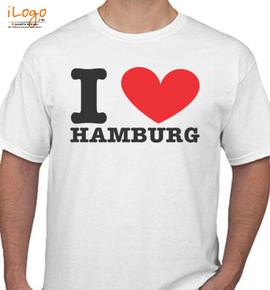 i love hamburg - T-Shirt