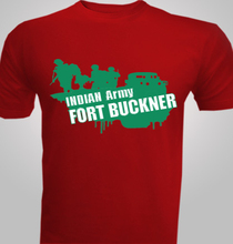 Military INDIAN--Army-Fort-Buckner- T-Shirt
