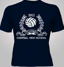 Volleyball Volleyball-design-Team- T-Shirt