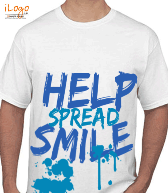 white Help Spread Smile:front