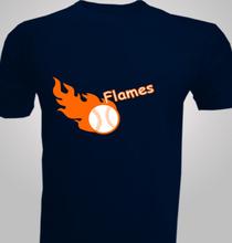 Softball Flames-Softball- T-Shirt