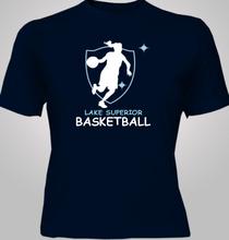 Basketball Ladies-and-Basketball T-Shirt